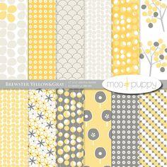 Brewster Yellow Digital Paper Pack