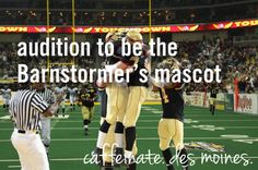 audition to be the barnstormers mascot