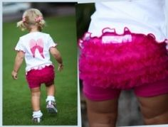 Ruffle Butts -RuffleButts Playground Shorts Fushia Ruffle- Trendy and Stylish Designer Baby Clothes. Find Buy Shop Compare LollipopMoon.com ...