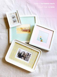 patterned frames DIY
