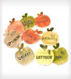 Salad Garden Markers - Set of 9