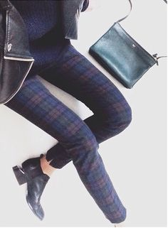 Like these plaid pants as an alternative to jeans
