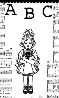 **FREE ViNTaGE DiGiTaL STaMPS**: FREE Vintage Digital Stamp - Little School Girl