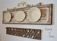 Lovely! Knick of Time: Ironstone & Tarnished Spoons Displays