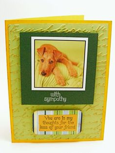 Handmade Loss of Dog Sympathy Pet Card by ecochiqueboutique