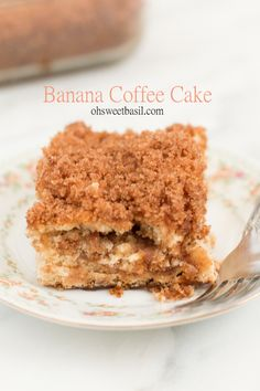 3 ingredient Banana Coffee Cake