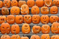 Free printable pumpkin carving templates for Halloween