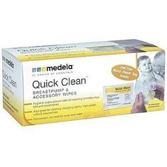 Medela Quick Clean Breastpump & Accessory Wipes - 40 cnt. These unique wipes allow easy & convenient cleaning without soap & water - ideal for in the car, at work, travel and more.Unscented, alcohol and bleach free.Efficient - just one wipe cleans both breast shields, valves & membranes - also great for changi
