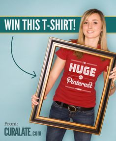 I just entered to win an awesome Limited Edition t-shirt from Curalate, the marketing suite for Pinterest! You can enter here: https://www.facebook.com/Curalate/app_485621694801525