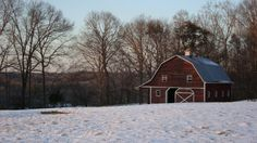My old barn in the snow.