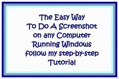 How do I do a screenshot from my computer? If your computer runs Microsoft Windows and you want to learn how to capture a screenshot using simple copy and paste techniques, this step by step tutorial will show you exactly what you need to do.