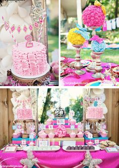 I absolutely love this party!! Fairy Themed Birthday Party via Kara's Party Ideas