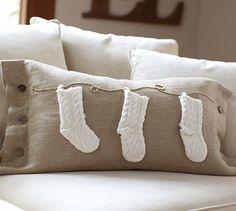 Knit Stocking Lumbar Pillow Cover #potterybarn