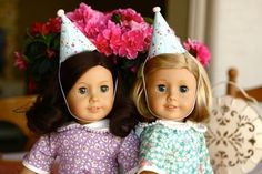 American girl doll party hat template