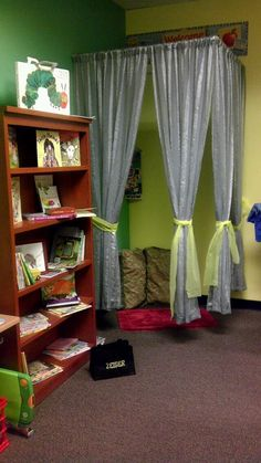My moms Reading Room area in her Classroom! We had so much fun doing this...and we are not done yet!
