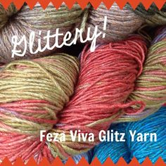 Yarn Review: Feza Viva Glitz Yarn #knitting #yarn