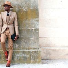sock, fashion styles, safari chic, suit, men fashion, parisian style, style icons, bold colors, men outfit