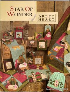 christmas crafts, quilt, heart star, pattern, stars, wonder, craft book, heart book, nanci halvorsen