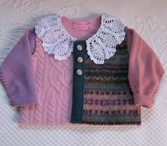 ROSALIA  Baby Sweater made from Recycled Sweaters by heartfeltbaby, $70.00
