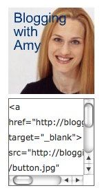 how to make a blog button