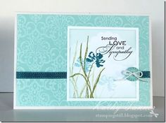 flower card, sympathy cards, blue, paper, backgrounds, love and sympathy stampin up, craft idea, stampin up love and sympathy, sympathi card