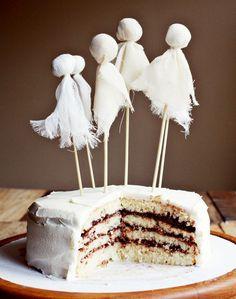 halloween parties, ghost cake, ghosts, cake tips, halloween cakes
