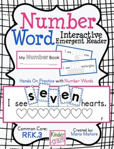 Number Word book - Interactive Emergent Reader. Students unscramble each number word then glue into the book#Repin By:Pinterest++ for iPad#