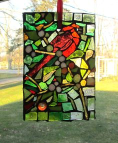 stain glass, stained glass, bird mosaic