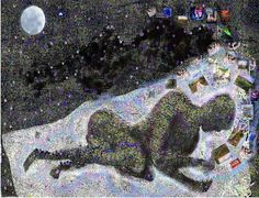 """Saatchi Art Artist David  K Collins; Collage, """"Siamese Dream """" #art"""