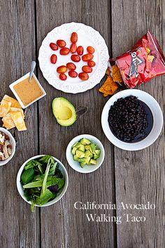 """California Avocado Walking Tacos"" | @Kristen @DineandDish #recipe #entertaining #easy"