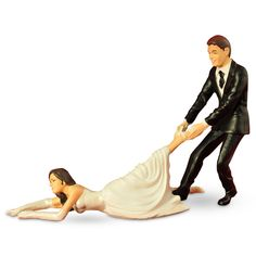 Reluctant Bride Cake Topper....for a bride & groom with a great sense of humor:)