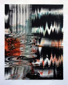 Jeffrey Gibson. Monotype. Native American artist. #nativeamerican
