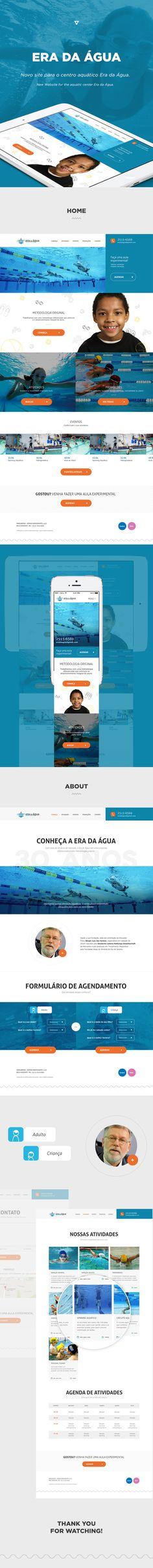 Site Era da Água by Will Siqueira, via Behance
