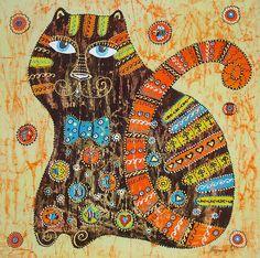 bordado gato