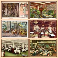 """Tea Rooms were extremely popular in the US in the first half of the 20th century. Most were owned and patronized by women. In the 1920s a tea room was a fashionable place for women to meet friends. They did not only serve tea and cakes like those in Paris, but specialized in """"lady's food"""" such as fancy salads, dainty sandwiches and yummy desserts. These tea rooms could be located in anywhere from a small house to a large department store or hotel. They were nicely decorated and offered a """"coz..."""
