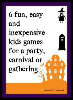 Fun games for Kids Halloween party