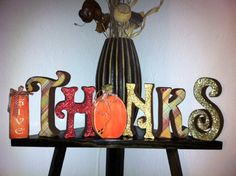 Seasonal Give Thanks Letter Set by definebliss on Etsy, $60.00