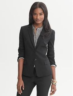 Tuxedo: Clean up nicely with this Banana Republic blazer.