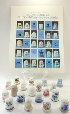 Thimbles From the Worlds Greatest Porcelain by DLSpecialties,
