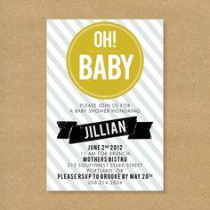 invite idea- Oh! Baby