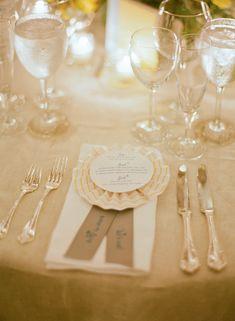 Have an award winning menu like this unique prize ribbon style menu by @Susan Horton song. Photography by: @Kat Ellis Headley #wedding