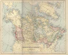 **FREE ViNTaGE DiGiTaL STaMPS**: Vintage Printable - Map of Canada