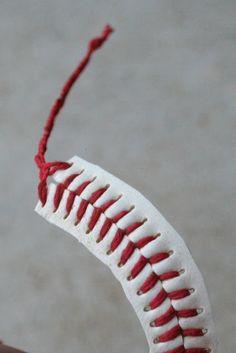 a DIY baseball bracelet