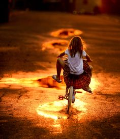 little girls, go girls, bike rides, sunset, bicycl