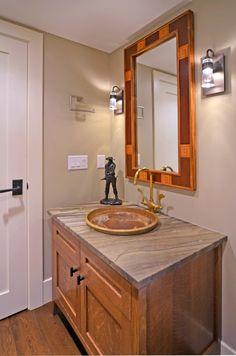 Modern Ranch powder room by Johnson & Associates Interior Design