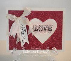 Stampin' Up! Valentine  by Melissa Davies at RubberFUNatics: