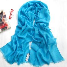 light sky blue long wool scarf warp
