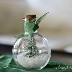 christmas gift exchange, christmas crafts, christmas signs, waterless snowglob, christmas decorations