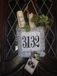 House Number On Basket