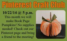 October Pinterest Craft Club :)